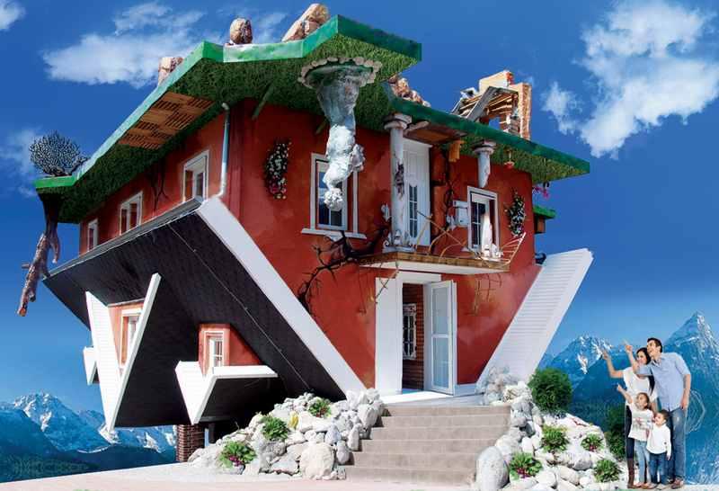 Cooles Ausflugsziel im Karwendel mit Kindern: Das Haus steht Kopf