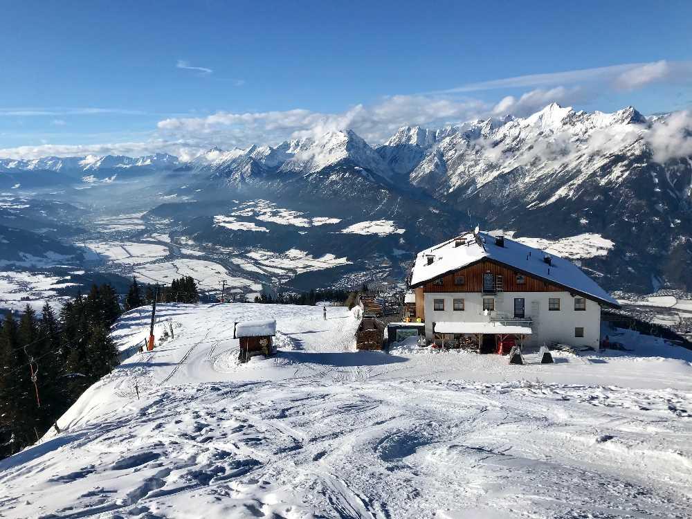 Der Blick vom Hecherhaus zum Karwendel