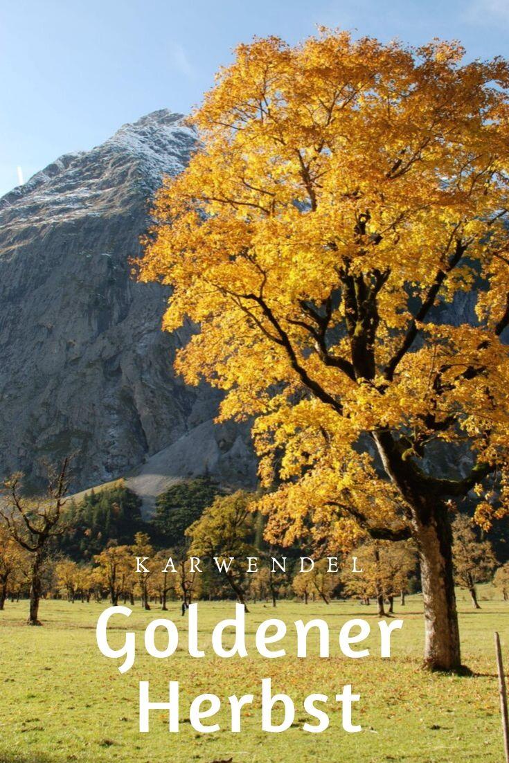 Oktoberurlaub wie im Bilderbuch! Im Karwendel kasnnst du das erleben.