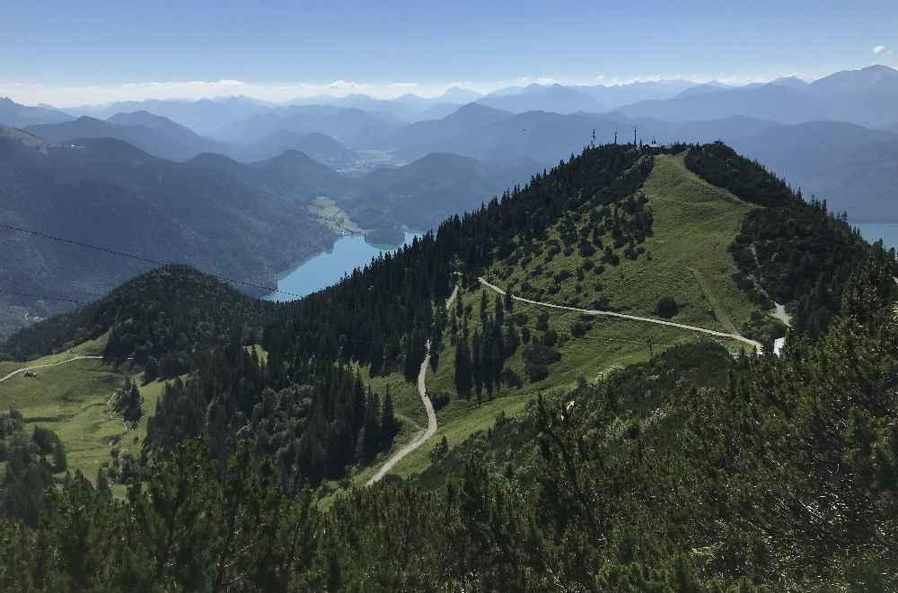 Walchensee wandern - Ausblick am Herzogstand, Martinskopf