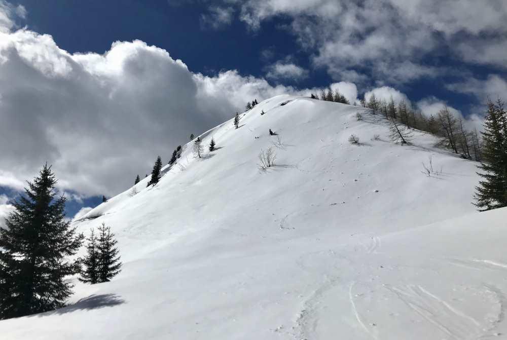 Der letzte Anstieg auf den Gipfel der Hochplatte im Karwendel