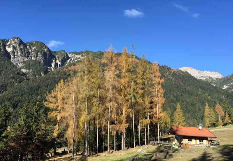 Über den Hörbstenboden mountainbiken bei Innsbruck im Karwendel