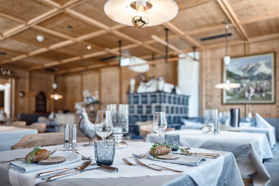 Die gemütliche Stube für das Abendessen im Hotel am Achensee