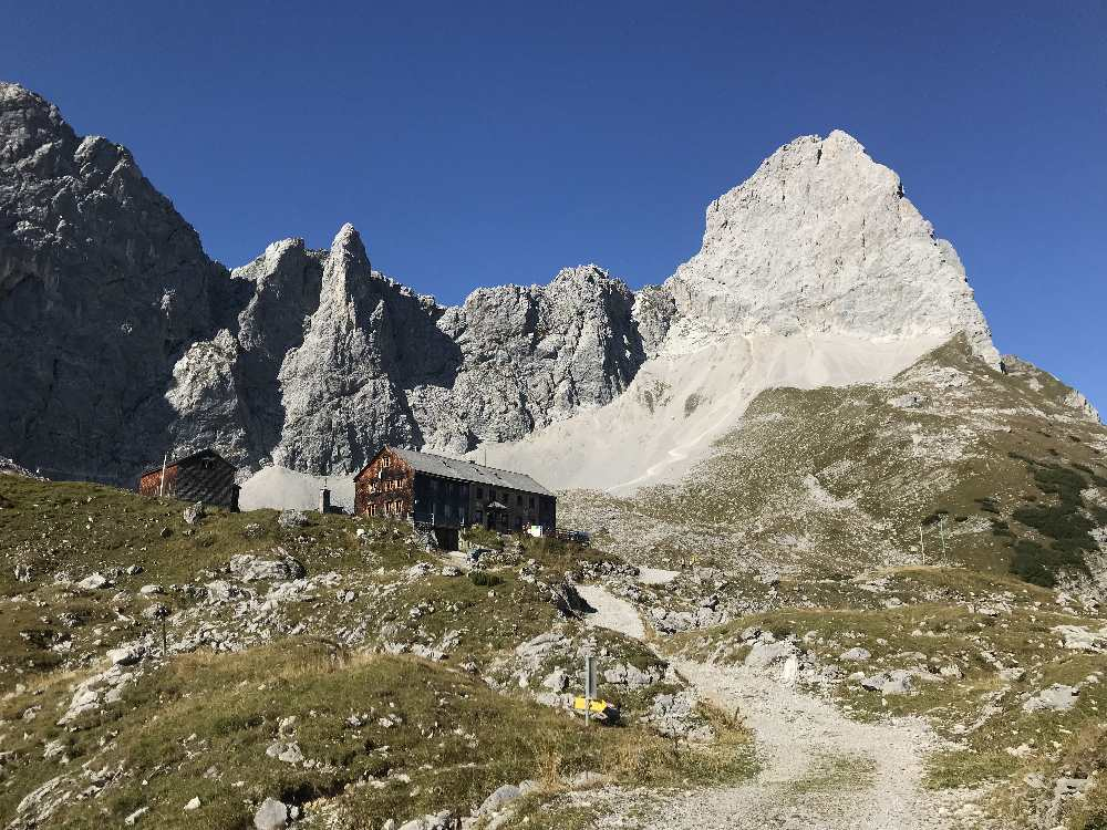 Vom Falzthurntal auf die Lamsenjochhütte wandern