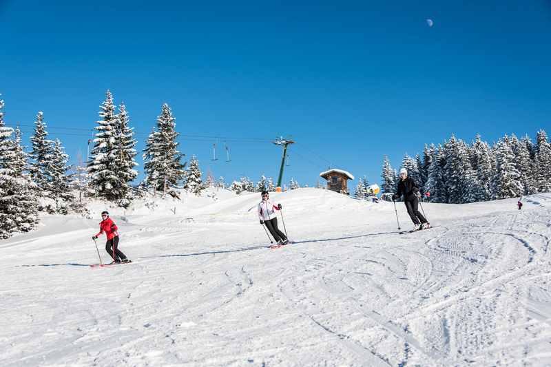 Beim Hausstatt Lift skifahren in Weerberg