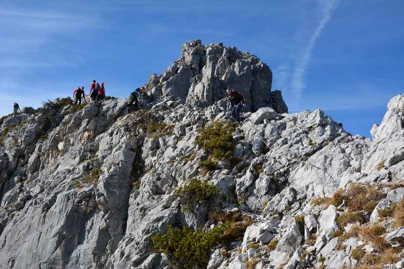 Der Hundskopf Klettersteig am Gipfel