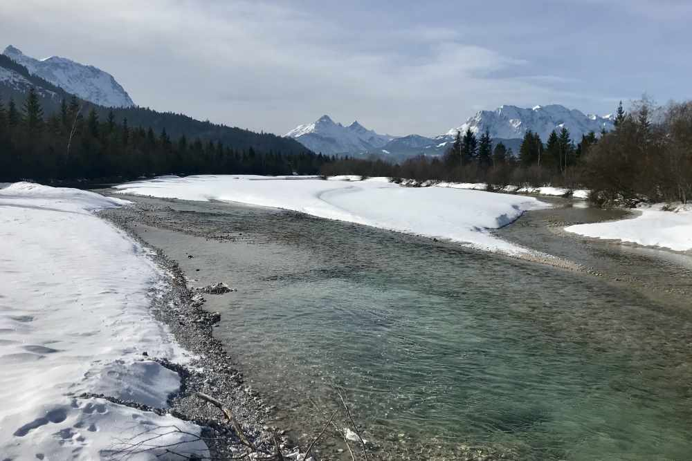 Winterurlaub Bayern: Traumhafte Loipe an der Isar - die Kanadaloipe zwischen Krün, Wallgau und Vorderriss im Karwendel