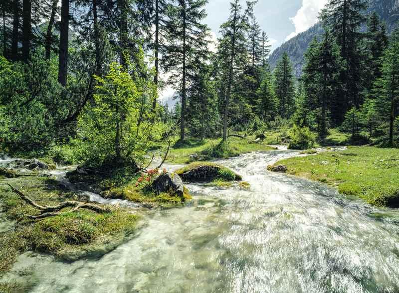 Zum Isarursprung im Karwendel wandern, Scharnitz - Bild: Olympiaregion Seefeld