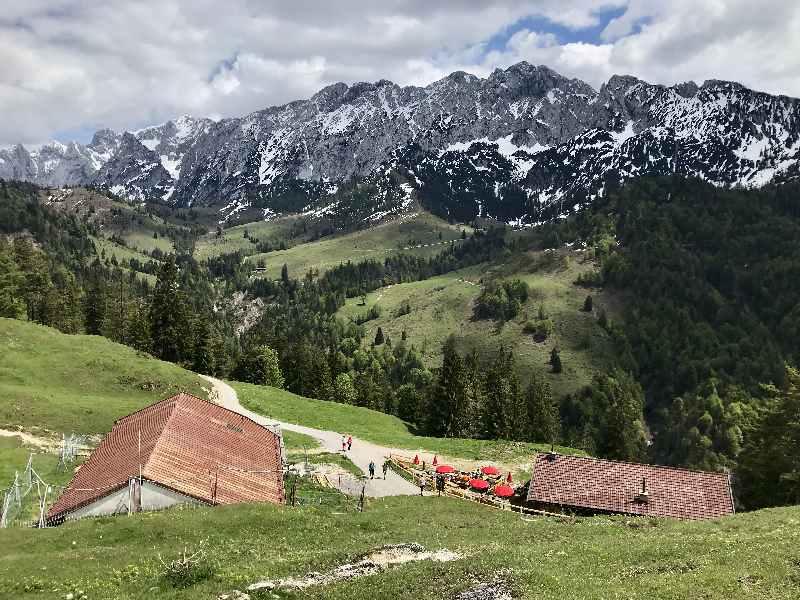 Das Kaisergebirge vom Brentenjoch aus gesehen