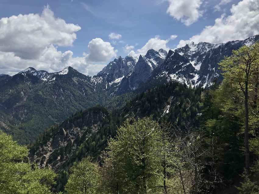 Im Kaisergebirge wandern - hier der Wilde Kaiser vom Gamskogel bei Kufstein