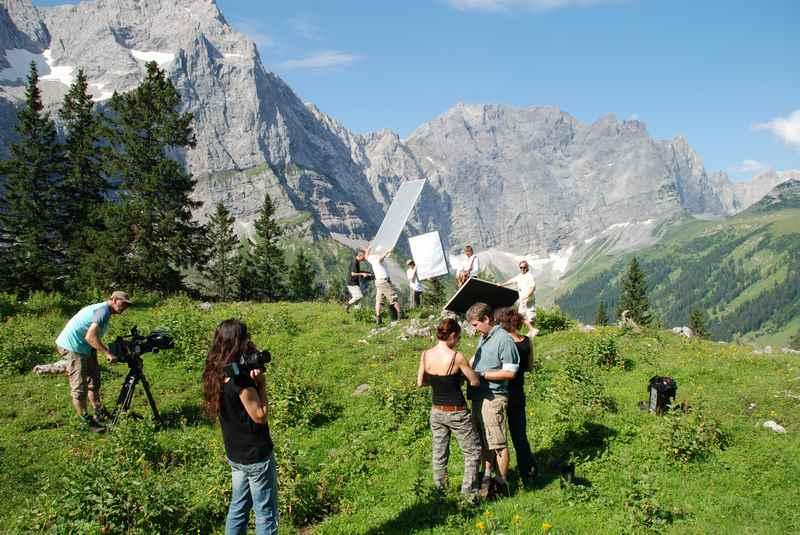 Karwendel Film ab - beim Drehen im Karwendelgebirge
