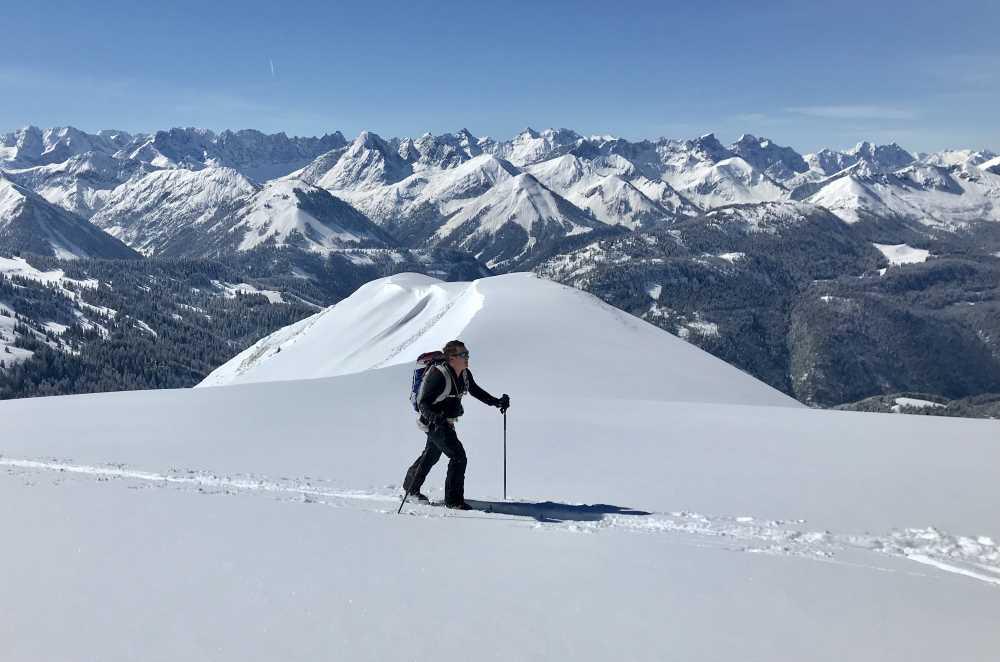 Beliebte Achenkirch Skitour auf den Juifen - der Ausblick oben ist grandios!
