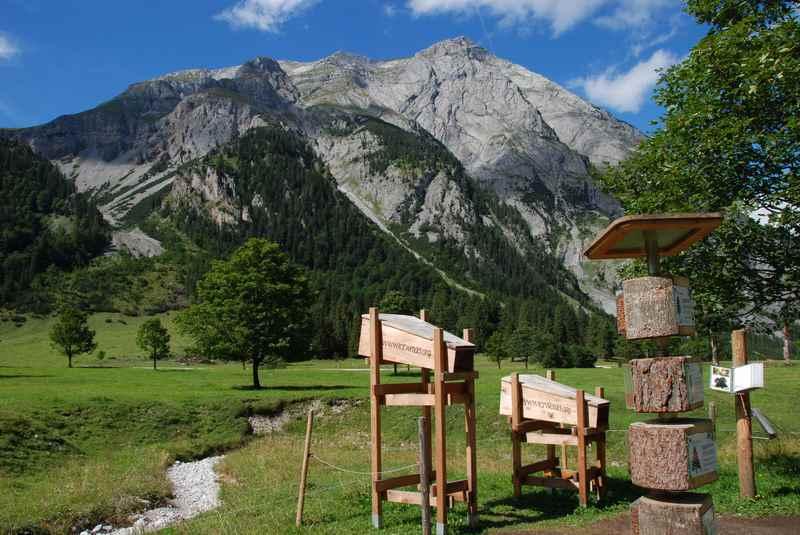 Der Karwendel Themenweg vom Alpengasthof Eng zur Engalm im Karwendel