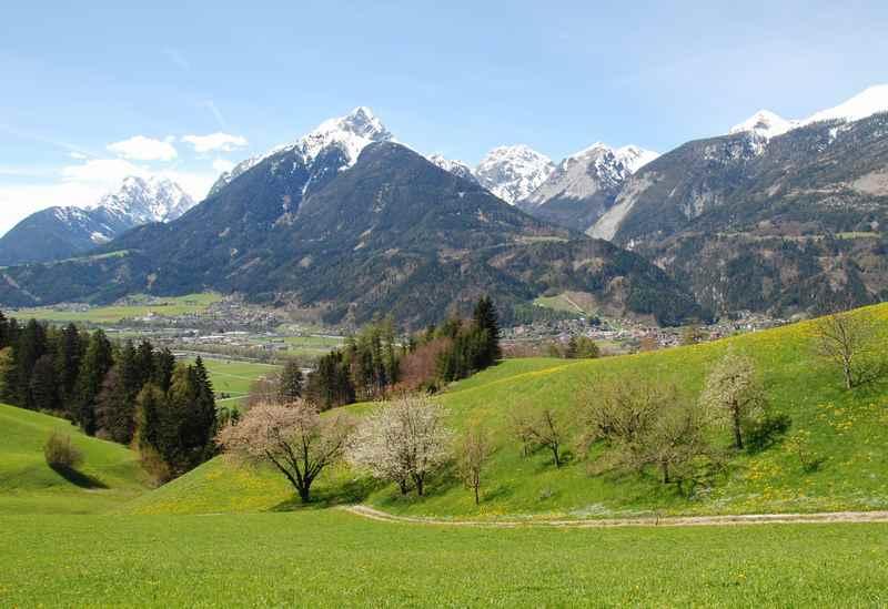 Beim Karwendel mountainbiken bei Innsbruck im Inntal