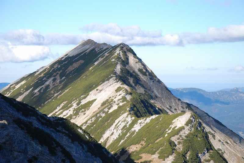 Hier geht der Wanderweg von der Seebergspitze hinüber zur Seekarspitze