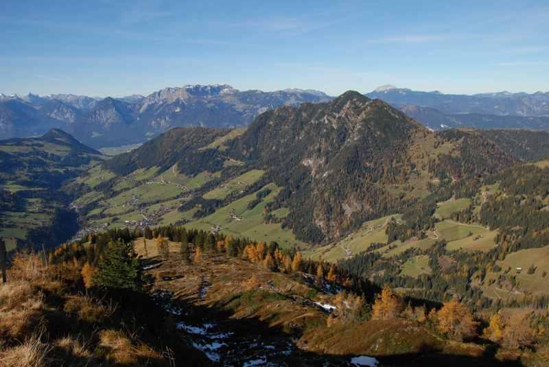 Die Kitzbüheler Alpen in Tirol, rund 20 Kilometer vom Karwendel entfernt