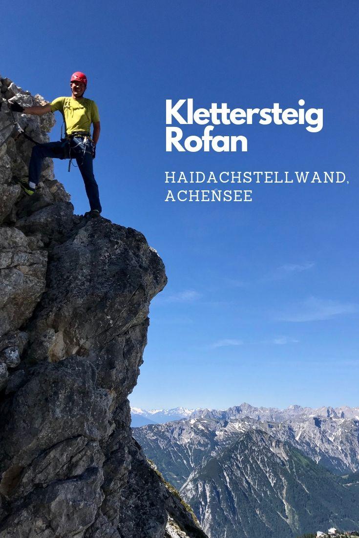 Am 5 Gipfel Klettersteig Achensee - schaut schwierig aus, war aber auf dem Achensee Klettersteig für Anfänger