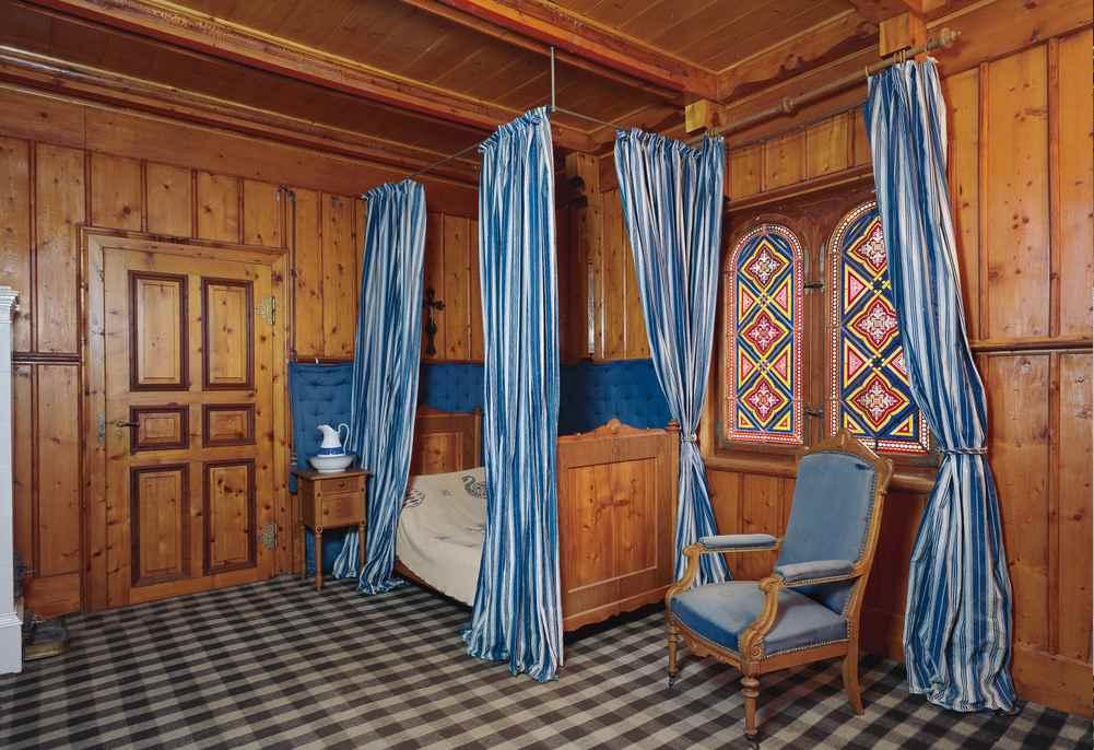Das Schlafzimmer von König Ludwig II im Schachenschloss, © Bayerische Schlösserverwaltung, Tanja Mayr/Rainer Herrmann, München; www.schloesser.bayern.de