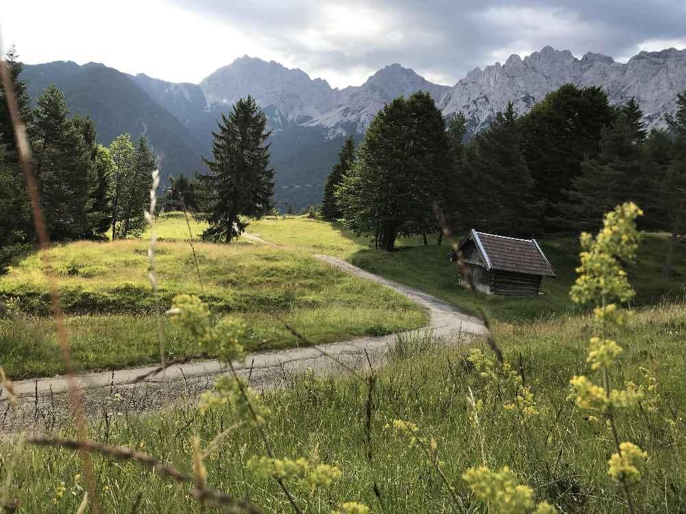 Mittenwald Sehenswürdigkeiten: Auf dem Kranzberg hast du diesen Ausblick zum Karwendel