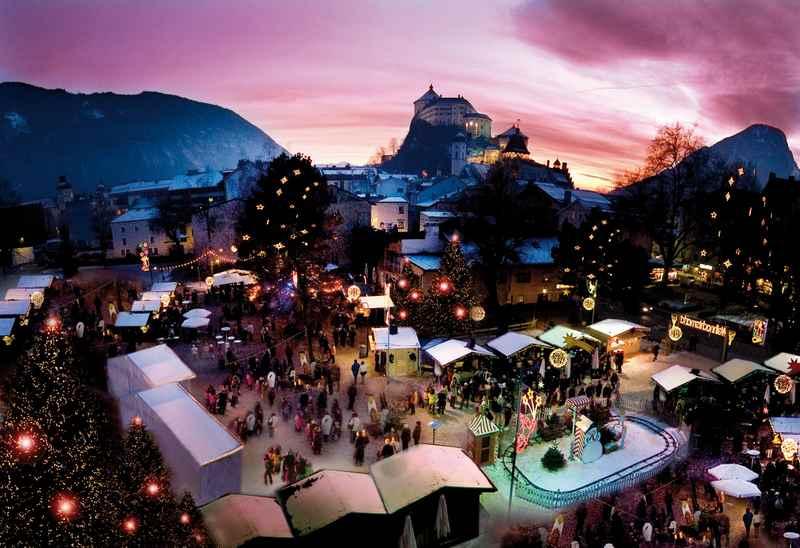 Besonders stimmungsvoll ist der Weihnachtsmarkt auf der Festung Kufstein, Bild: Horvath