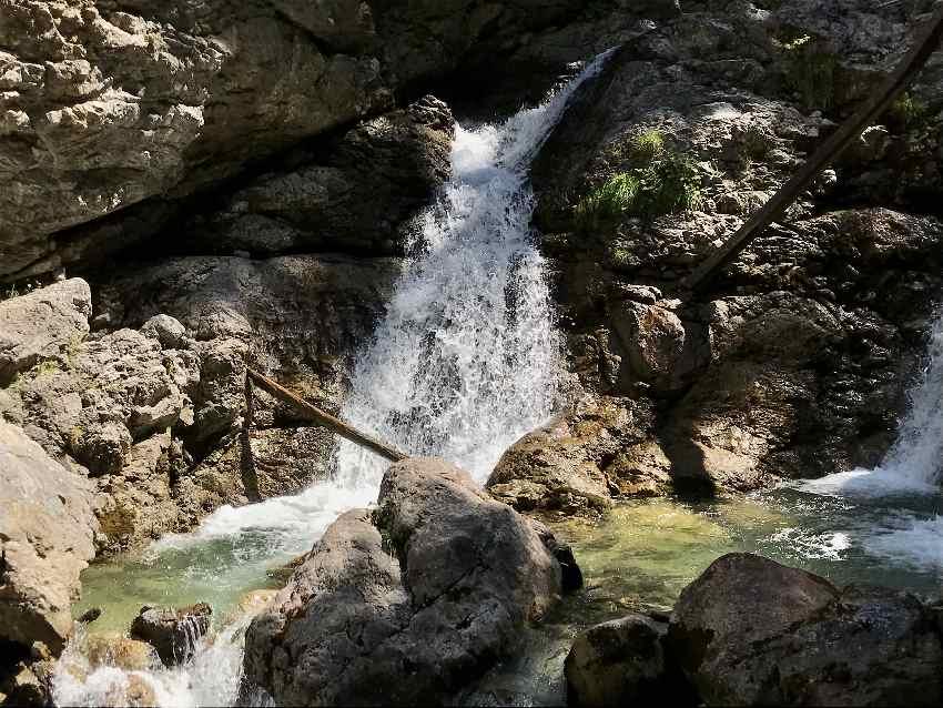 Das sind die Kuhflucht Wasserfälle in Farchant
