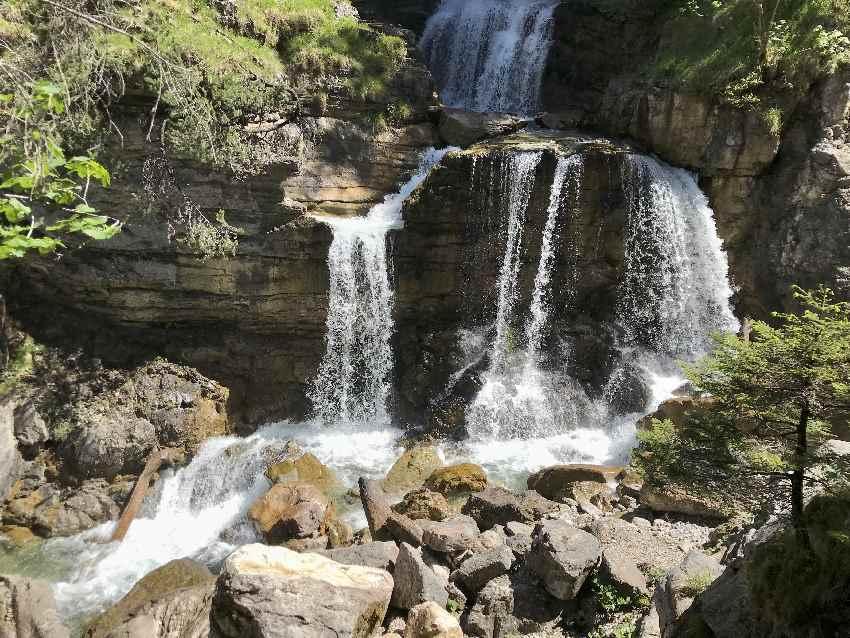 Besonderheit im Estegebirge: Die Kuhflucht Wasserfälle
