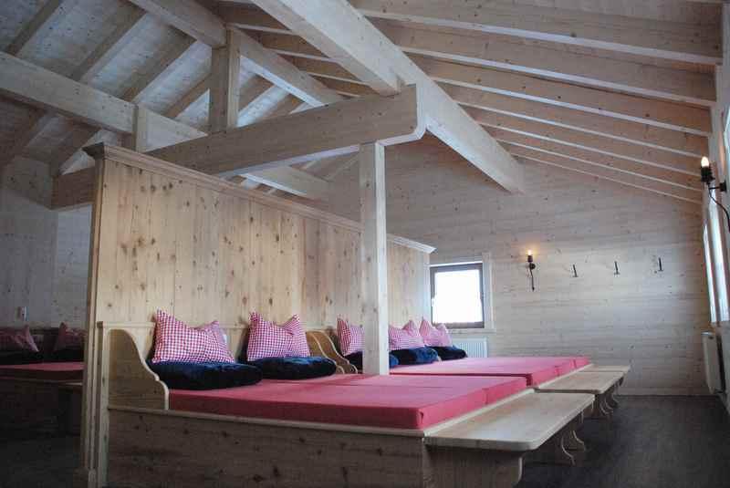 Das schöne und helle Lager auf der Weidener Hütte in Tirol