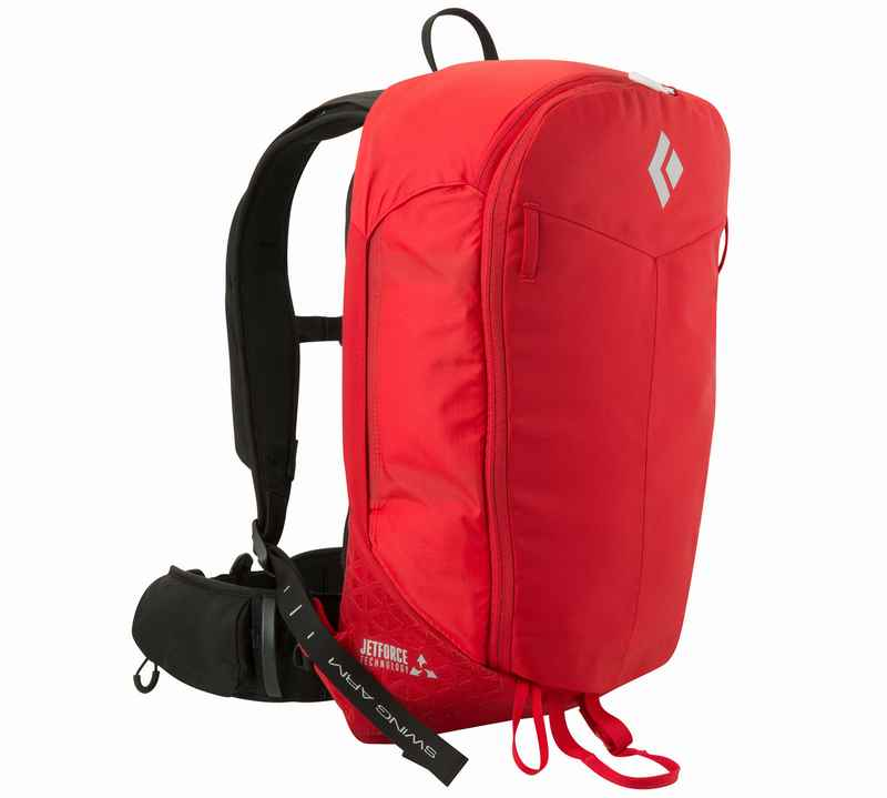 Ein Lawinenrucksack ist von außen nicht von einem konventionellen Rucksack zu unterscheiden