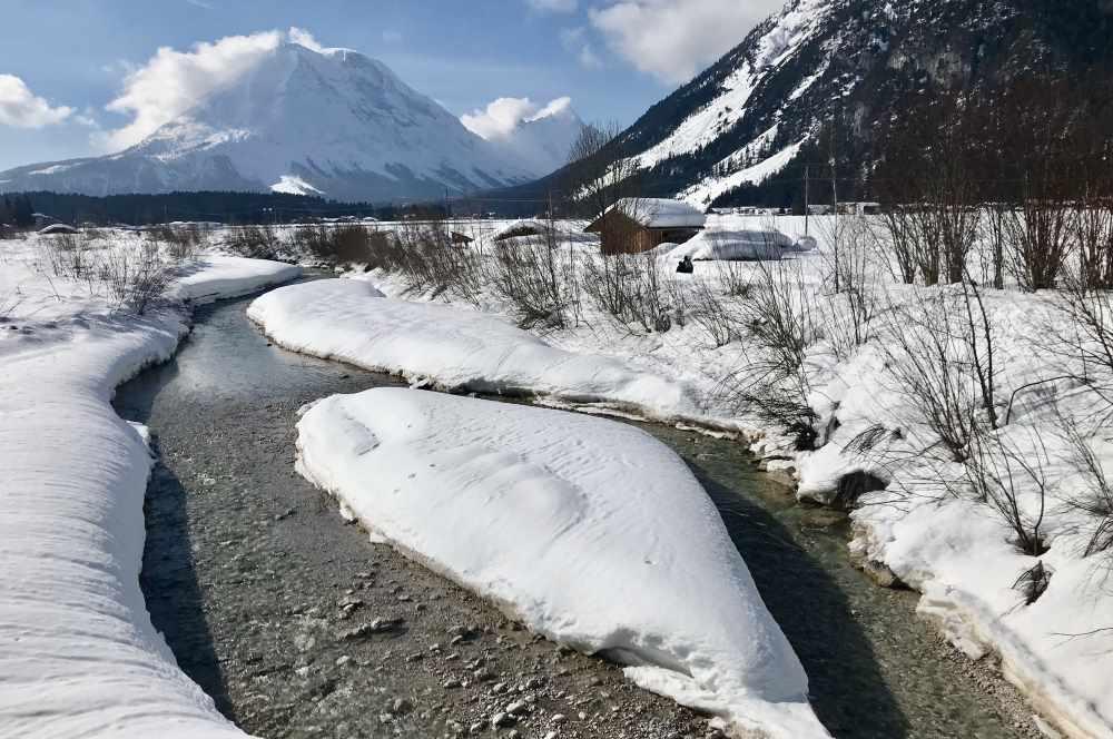 Tolle Winterlandschaft auf dem Weg zum Kurblhang!