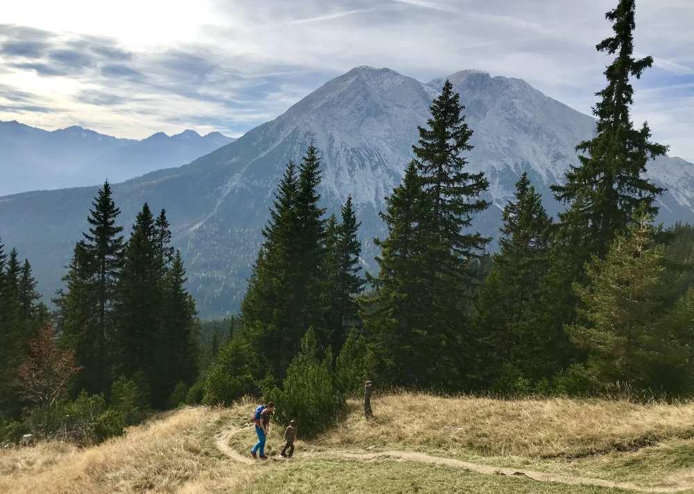 Das ist der Blick zur hohen Munde - eine tolle Bergtour in Leutasch