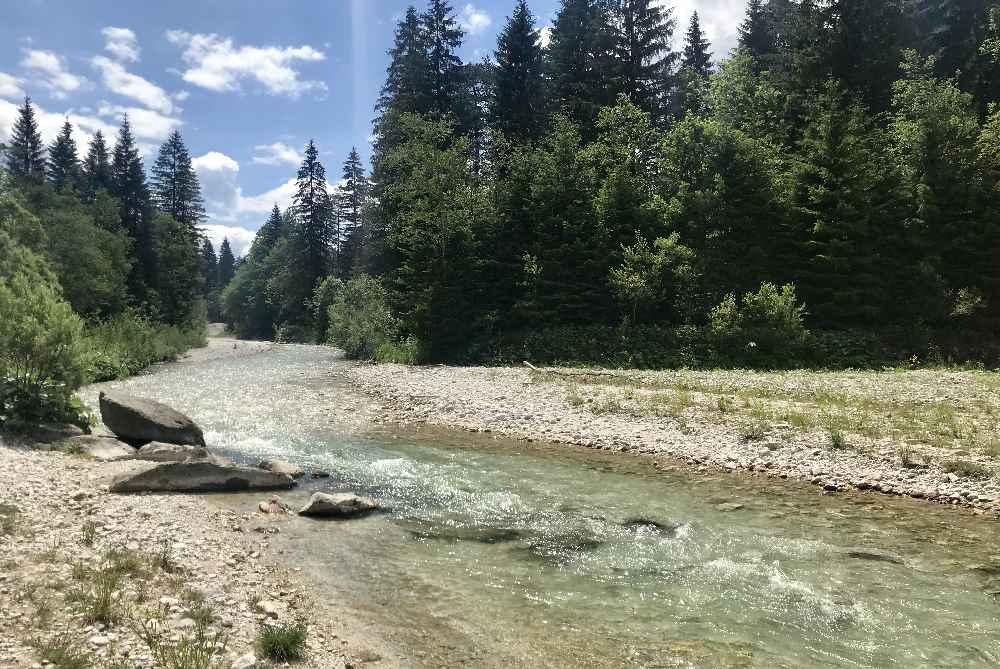 Gleiche Stelle, andere Blickrichtung: Flussaufwärts.