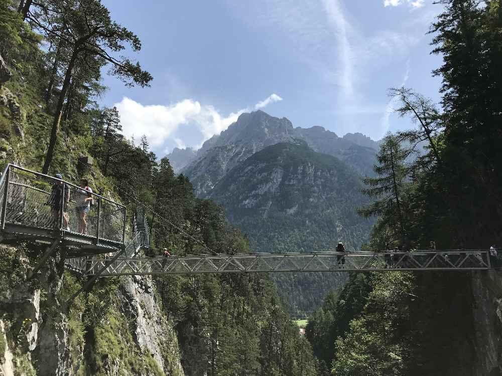 Die Leutaschklamm in Mittenwald