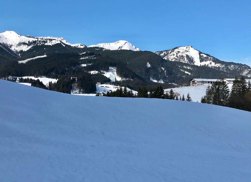 Loipe Achenkirch - landschaftlich schön ist die Guffertloipe auf dem Weg nach Steinberg