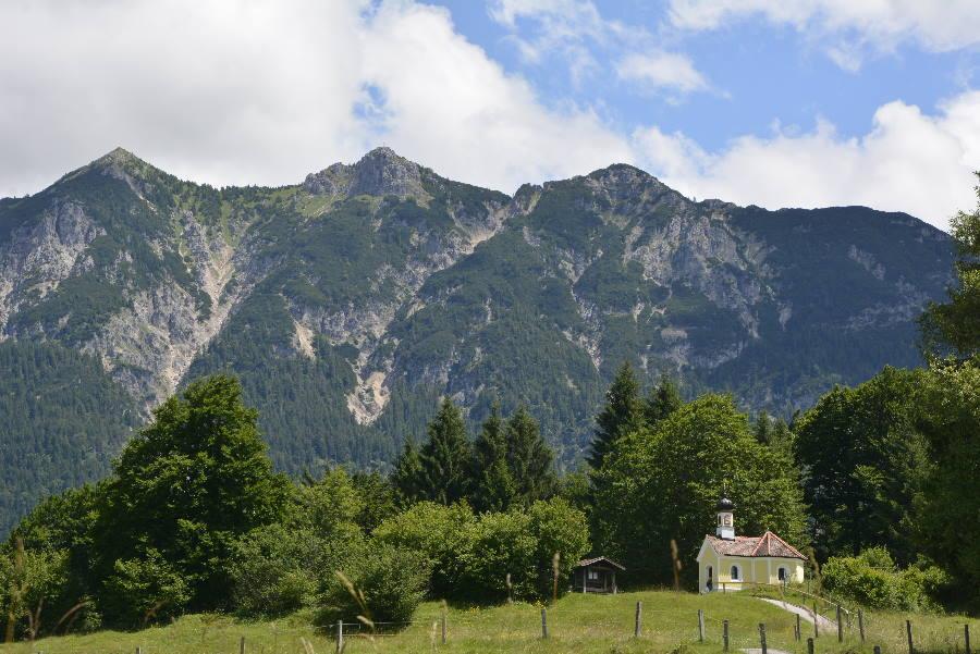 Leicht in Krün wandern zur Maria Rast Kapelle