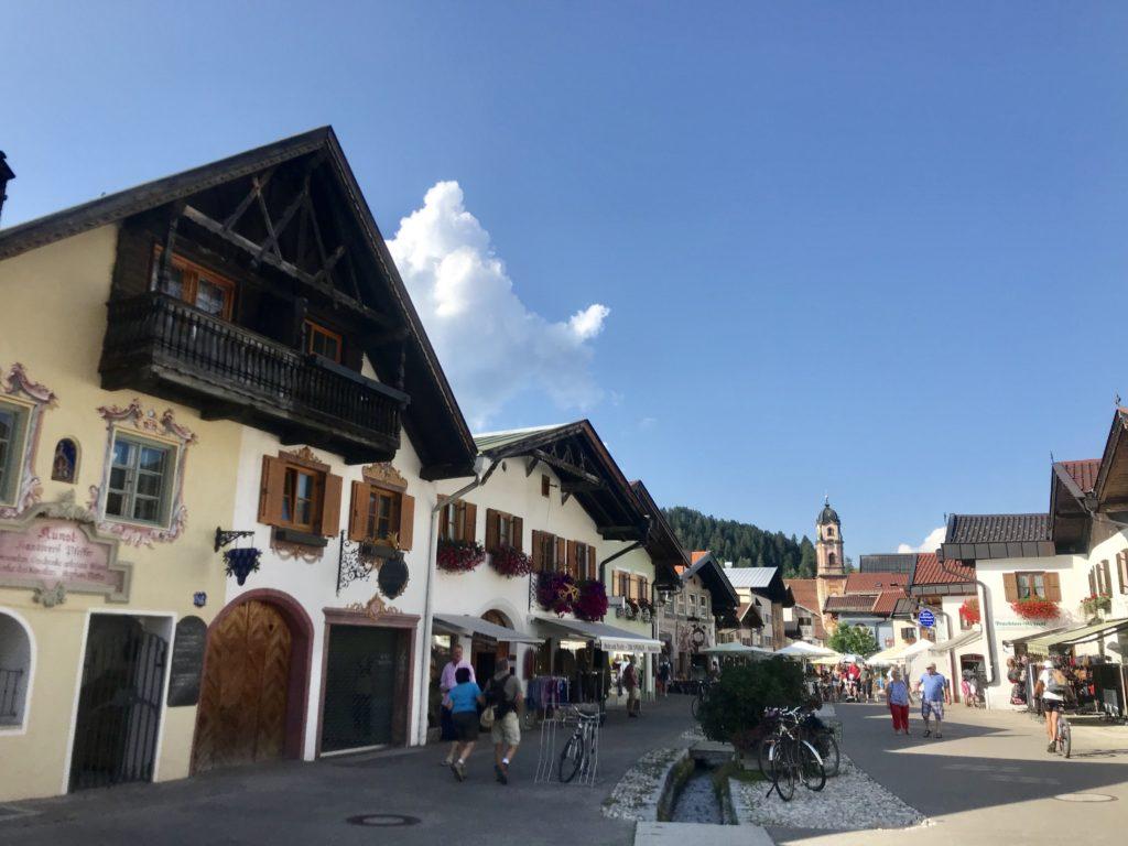 Mittenwald Altstadt - die Fußgängerzone