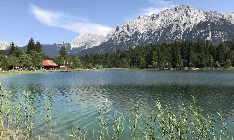 Mittenwald Karte: So schön ist es in Mittenwald mit den Bergen und den Seen