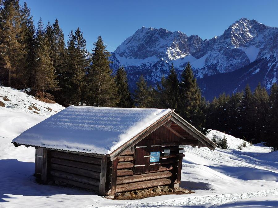 Winter am Kranzberg - mit Blick auf das Karwendel