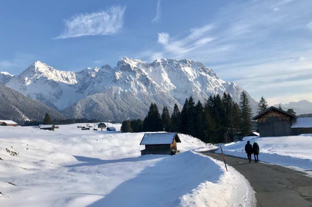 Mittenwald winterwandern - in den Buckelwiesen