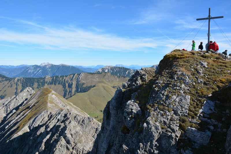 Das Ziel einer schönen Bergtour im Karwendel: Die Mondscheinspitze am Achensee