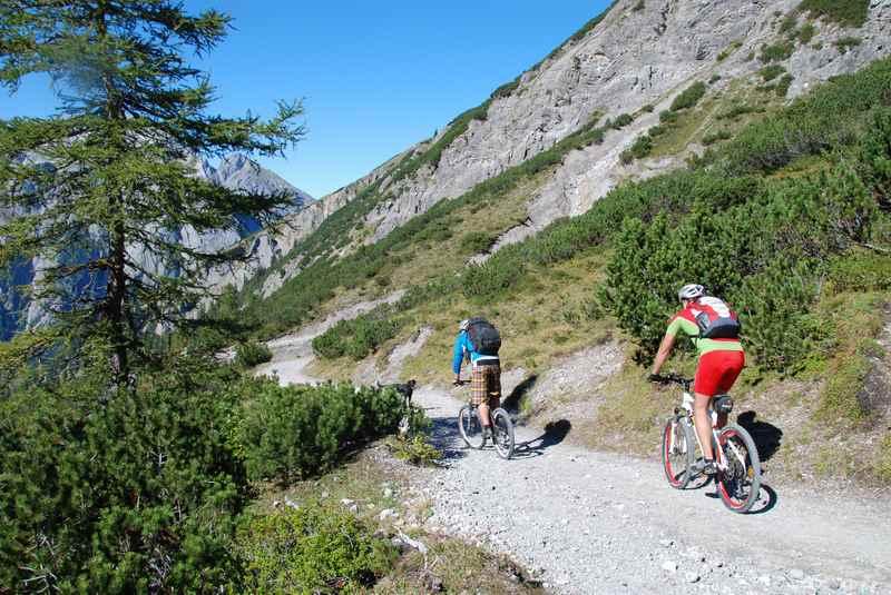 Schön Mountainbiken im Karwendelgebirge rund um Schwaz, Tirol