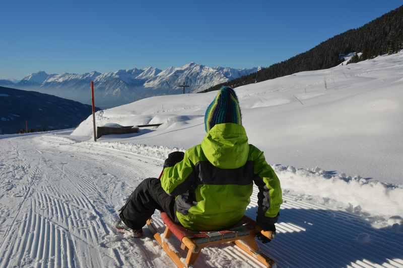 Und das ist das Panorama mit dem Karwendel bei der Nonsalm Rodelbahn
