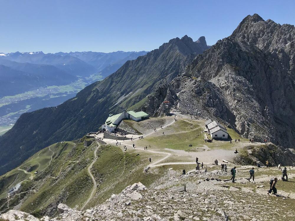 Auf dem aussichtsreichen Goetheweg wandern in Innsbruck