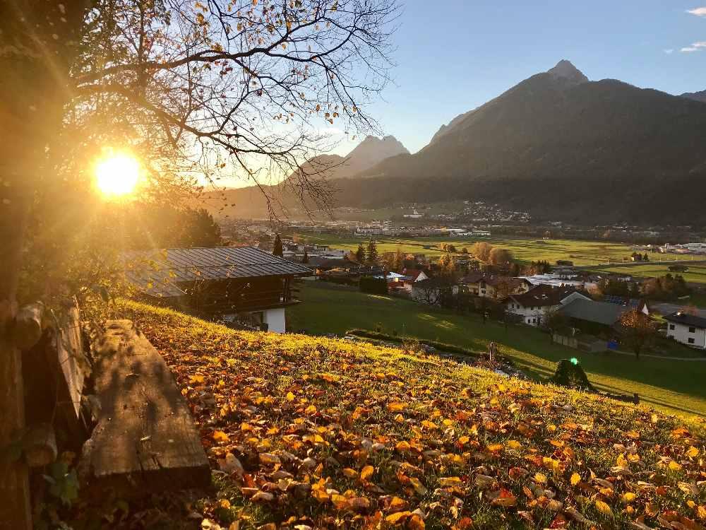 Am schönsten ist der November mit dem Sonnenuntergang hinterm Karwendel