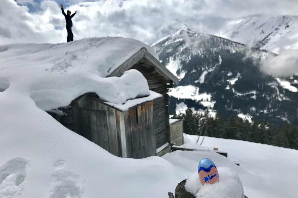 Spaß in den höher gelegenen Bergen beim Osterurlaub in den Tuxer Alpen