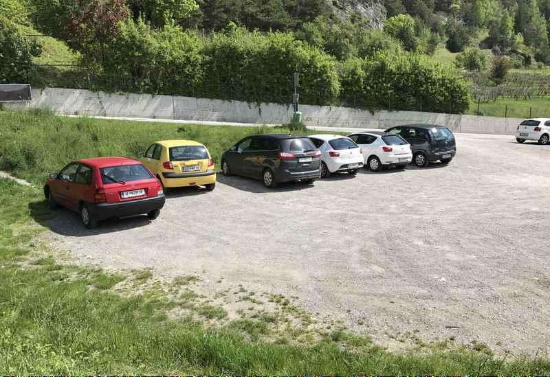Das ist Ehnbachklamm Parkplatz in Zirl - Ausgangspunkt für deine Klammwanderung