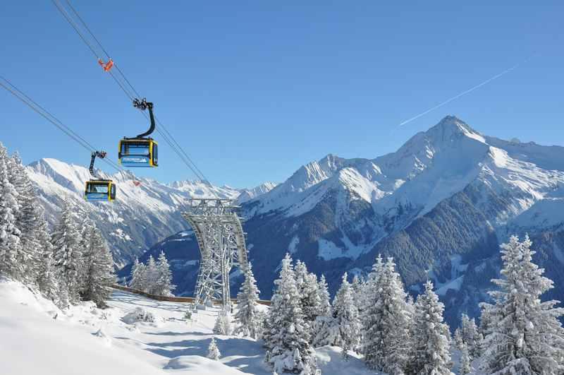 Die Penkenbahn Mayrhofen erschließt ein schönes Skigebiet im Zillertal, Foto: Bergbahn Mayrhofen