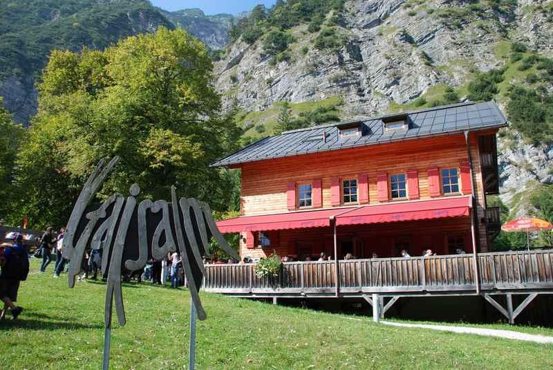 Die Gaisalm am Fuße des Karwendel