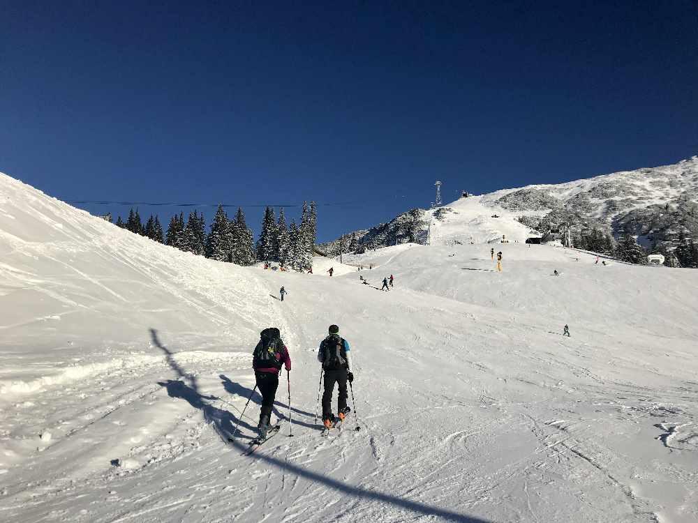 Die Pistenskitour auf die Rosshütte in Seefeld, tolle Skitour im Karwendel