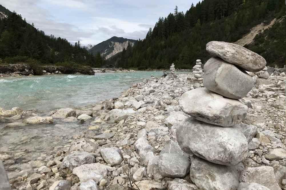 An der wilden Isar entlang bergauf - bis zur Isarquelle im Karwendel