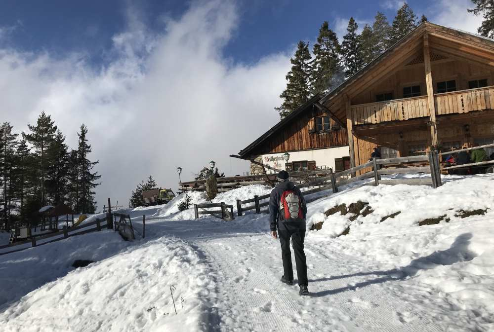 Die letzten Meter zur Reitherjochalm im Karwendel
